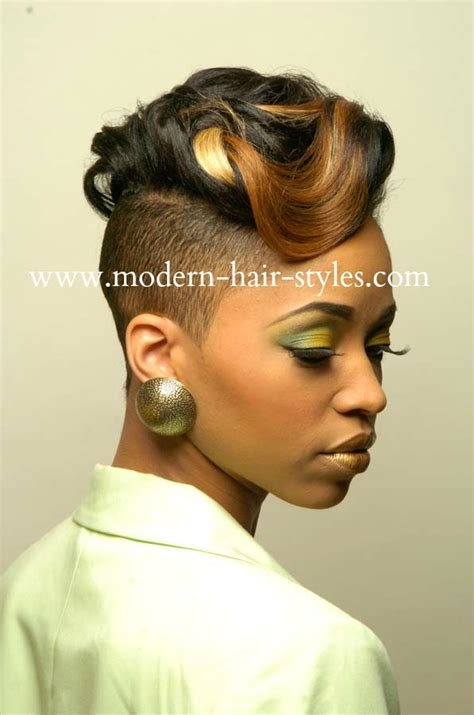 women hairstyles shaved sides short black women hairstyles of weaves braids and