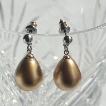 Bridal Faux Pearl Earring shop vintage faux pearl drop earrings on wanelo