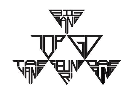 big fans logo bigbang member logos letterform bigbang
