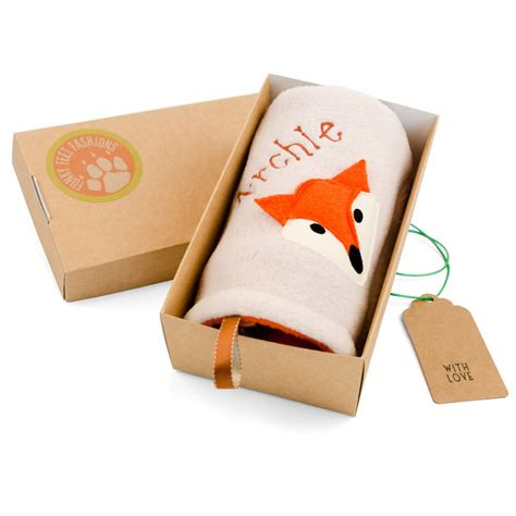 gifts uk fox baby taggy comforter by funky fashions