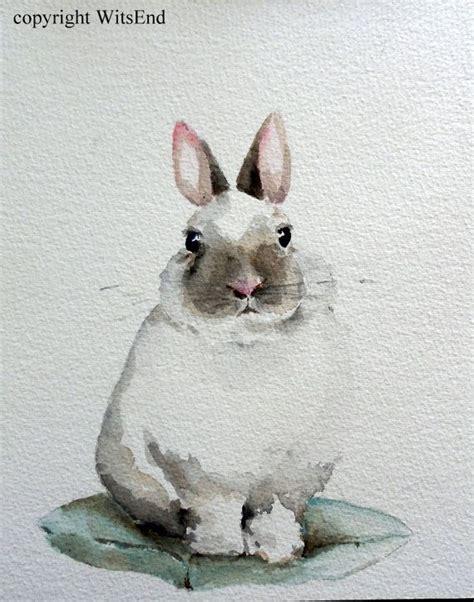 watercolor rabbit tutorial bunny rabbit painting original nursery watercolor art