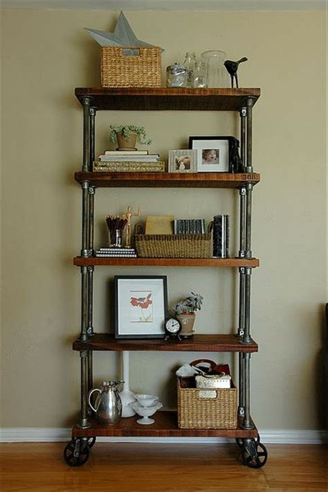 shelf made with kee kl pipe fittings industrial pipe