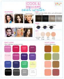 cool winter color palette color analysis 3 degrees of cool brilliant
