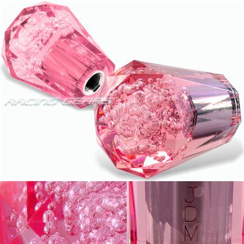 Pink Gear Shift Knob by Universal Vip Jdm 60mm Transparent Manual Pink