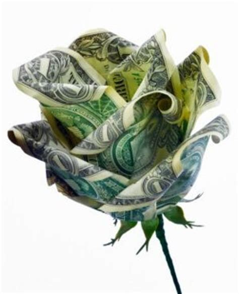Origami Flower With Money - muloqot uz dollar origami flower