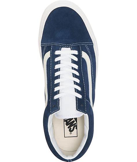 Jual Vans Skool Vintage Dress Blue vans skool vintage dress blue skate shoes zumiez