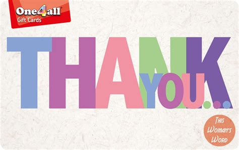 How Do I Use My One4all Gift Card Online - the perfect way to say thank you with one4all gift card this womans word