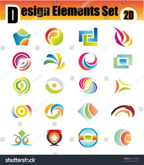 colorful logo design elements vector set colorful set 20 design elements stock vector 33110044