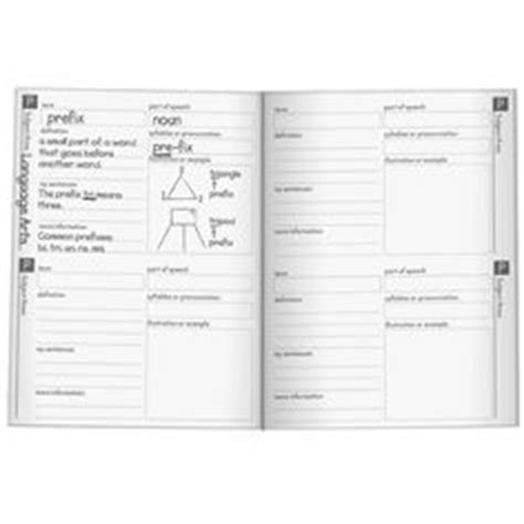 vocabulary journal template vocabulary template for content or academic vocabulary