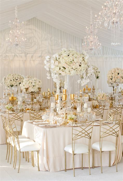 White Gold Wedding by Wedding Ideas Pretty Unique Reception Seating Inside