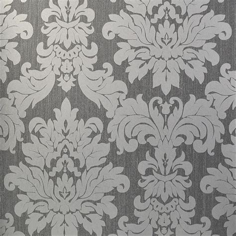 designer grey wallpaper uk versalles silver grey damask 20109