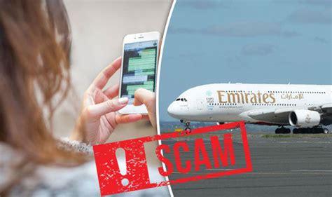 whatsapp scam offers free emirates flight tickets travel