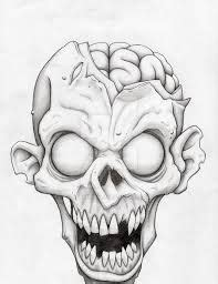 easy zombie tattoo image result for zombie drawing head piz pinterest