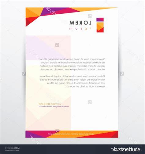 letterhead vector illustrator trendy multicolored