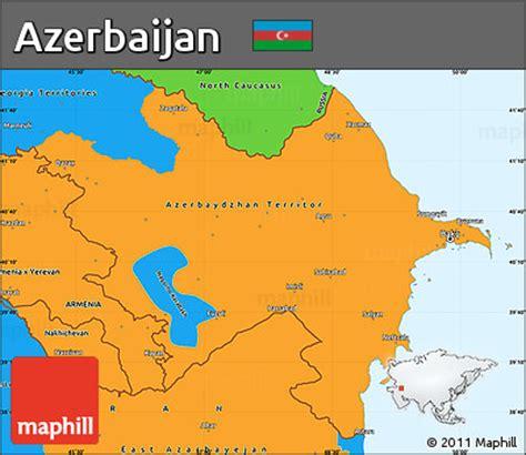 political map of azerbaijan free political simple map of azerbaijan