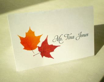 Printable Fall Place Cards Template by Printable Fall Wedding Stationery Editable By Mapleshoppers