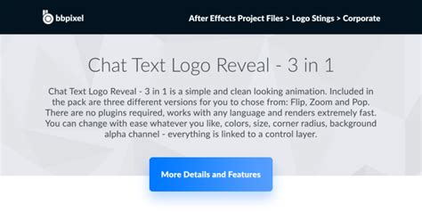 Chat Text Logo Reveal 3 In 1 Technology After Effects Templates F5 Design Com After Effects Text Reveal Template