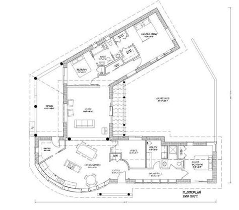 passive solar home plan courtyard in construction