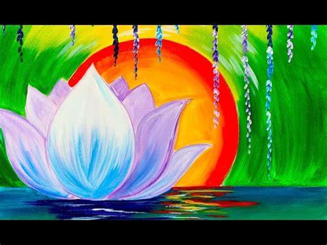 watercolor lotus tutorial zen lotus flower step by step for beginners acrylic