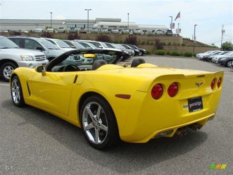 2007 corvette convertible 2007 velocity yellow chevrolet corvette convertible