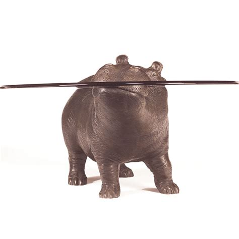 Hippo Coffee Table Bespoke Bronze Sculpture Stoddart Hippo The Lad Coffee Table