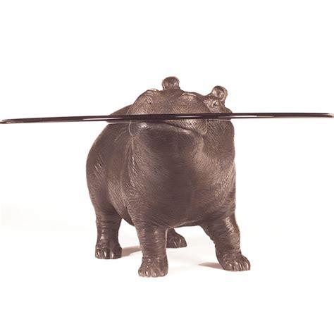 Bespoke Bronze Sculpture Mark Stoddart Hippo The Lad Hippo Coffee Table