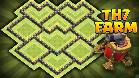 clash of clans th7 farming base best town hall 7 defense strategy clash of clans new update best th7 farming base coc