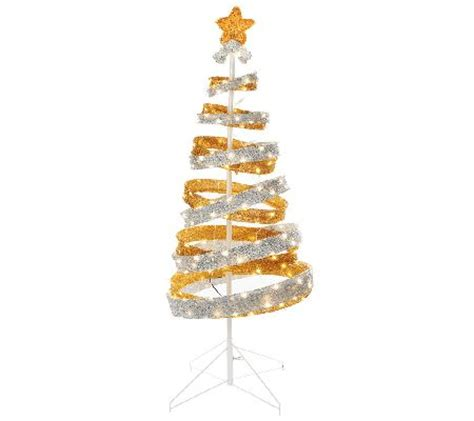 out door ribbon spursl trees cheap kringle express 4 outdoor collapsible spiral tree review decor 411q