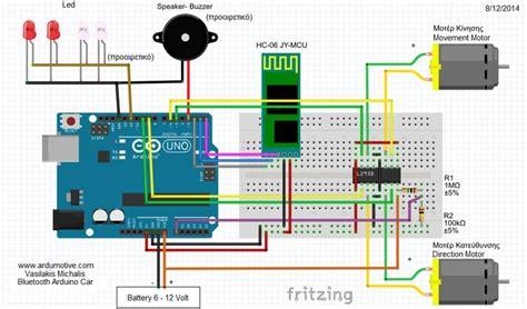arduino tutorial rc car circuit schematic of arduino bluetooth rc car more info