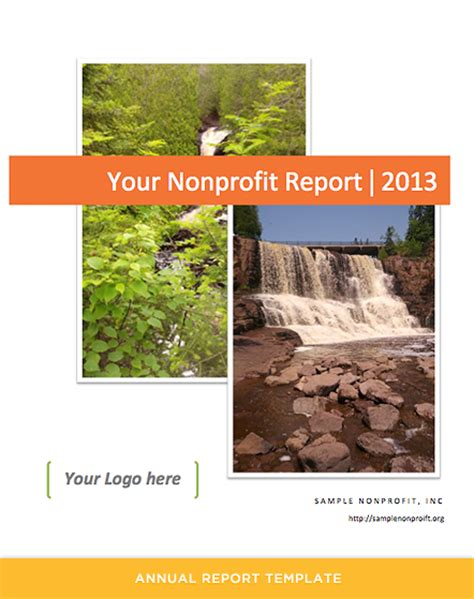 non profit annual report template annual report template for nonprofits