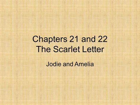 theme of judgement in the scarlet letter chapters 21 and 22 the scarlet letter ppt video online