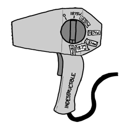 Hair Dryer Xkcd What If the reader