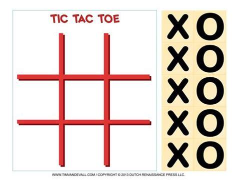 printable tic tac toe game templates  paper games