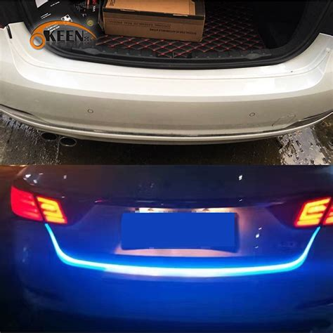 led car light strips okeen tailgate led light bar brake turn signal led moving flash warning light