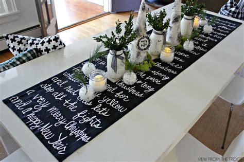 white christmas table runner christmas song lyric table runner and christmas table