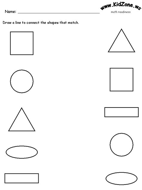 printable worksheets for preschoolers matching worksheet matching shapes teaching lesson ideas