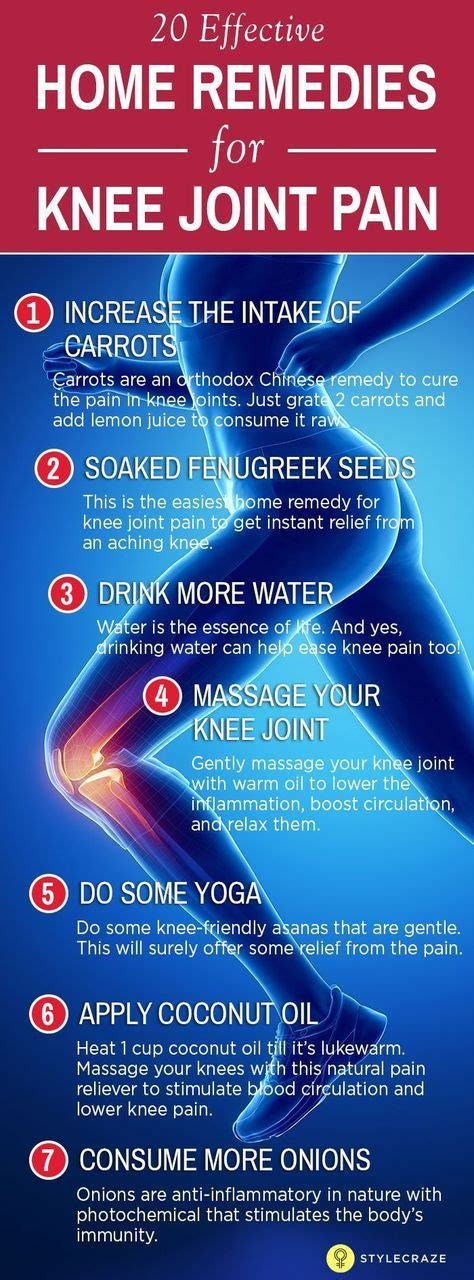 Home Remedies For Joint by 20 Effective Home Remedies For Knee Joint Knee