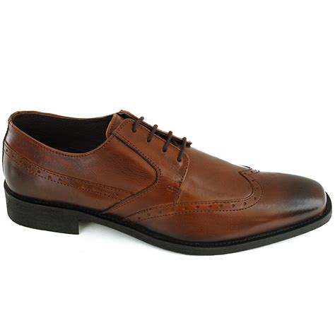 mens shoes oxfords mens wing tip oxfords lace up leather comfort brogue