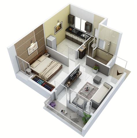 1bhk studio design gallery photo
