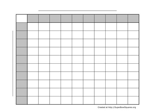 bowl squares template excel printable superbowl squares world of menu and chart