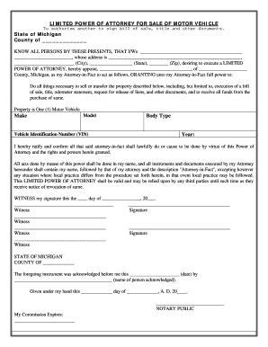 Michigan Vehicle Bill Of Sale Form Templates Fillable Printable Sles For Pdf Word Bill Of Sale Template Michigan