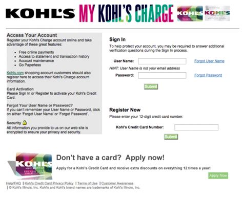 make a payment to store card make kohls credit card payment infocard co