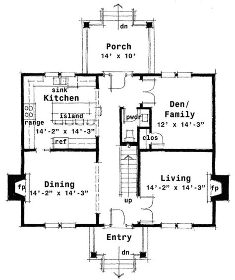 fireplace floor plan plan 44045td center hall colonial house plan colonial