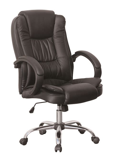Luxury Office Chairs by Black Luxury Swivel High Back Pu Leather Executive Pc