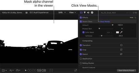 final cut pro black and white final cut pro x invert effect masks for a clip