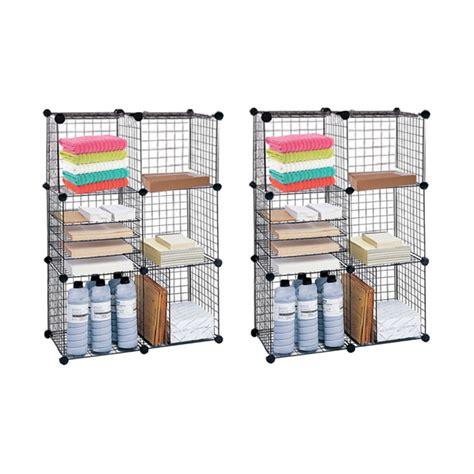 closetmaid wire cube organizer closetmaid 6 cube