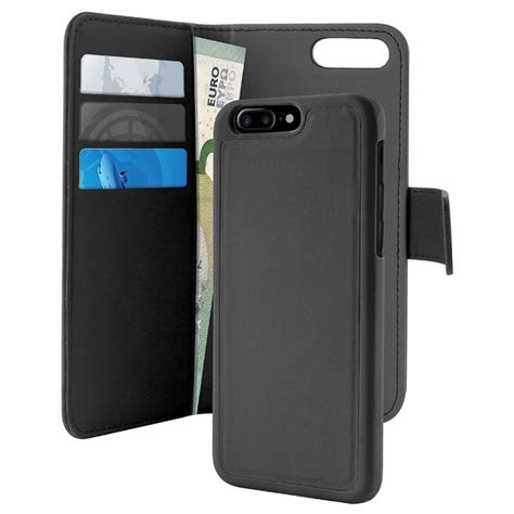 iphone 7 plus iphone 8 plus puro detachable schutzh 252 lle mit geldb 246 rse schwarz