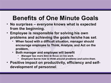 One Minute Manager one minute manager presentation