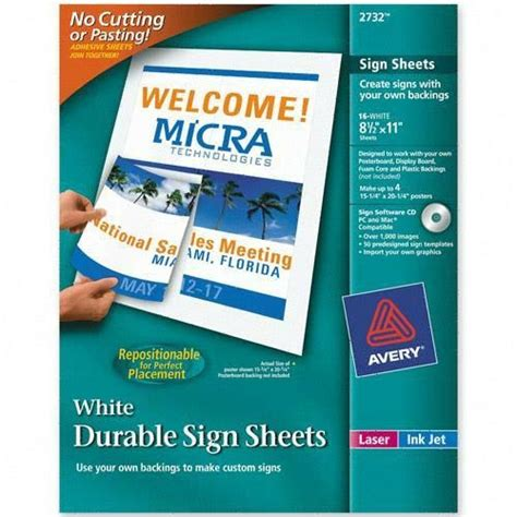 avery durable banner paper ave2732 shoplet com