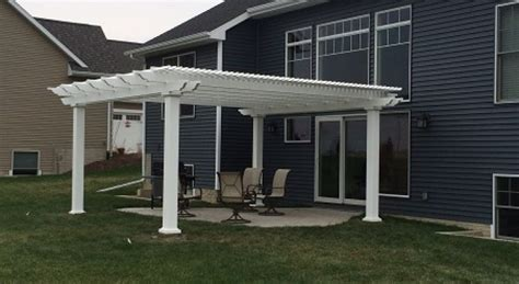 Heartland Pergolas Quality Vinyl Pergola Kits Attached Vinyl Pergola Kits